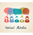 Social media chat people group vector image