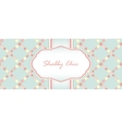 shabby chic card design vector image