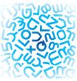 FontFutureRotatedX vector image