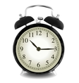 Realistic of wall clock vector image