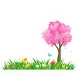 Spring grass vector image