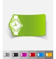 realistic design element watch vector image