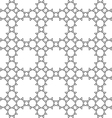 Delicate seamless monochrome ethnic pattern vector image