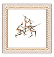 Ancient tribal people ethnic ornament frame for vector image