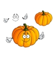 Cartoon bright orange pumpkin vegetable vector image