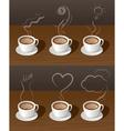 Coffee Cup Tea with Smoke Ideas Concept vector image
