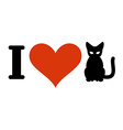 I love cats Heart and pets Logo for at owner and vector image