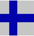 Knitted flag of Finland vector image
