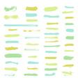 set of grunge brush stroke vector image