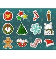 xmas holidays decorations cartoon set vector image