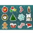 xmas holidays decorations cartoon set vector image