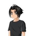 anime style boy icon vector image