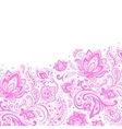 Beautiful paisley background vector image