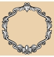 Engraving border frame with pattern in retro vector image vector image