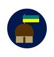 in flat design of ukrainian vector image