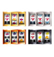 combinations on slot machine set vector image