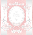 Wedding invitation or congratulation in pink vector image vector image