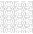 Seamless Geometric Lines Black and White Hexagon vector image