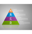 infographic pyramid Web design template vector image