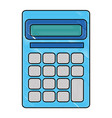 calculator math device icon vector image