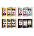 combinations on slot machine set vector image