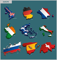 Countries Terrain - Europe vector image