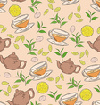 hand drawn seamless pattern with coloured cup of vector image