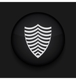 modern shield black circle icon vector image