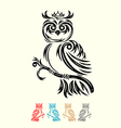 Owl with crown vector image