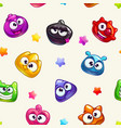 seamless pattern with funny colorful jelly vector image