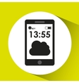 cellphone internet cloud network media icon vector image