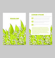 invitation card with lilies of the valley vector image