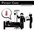 doctor and nurse care patient in hospital vector image