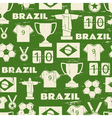 Seamless repeat pattern with Brazilian symbols vector image
