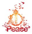 beautiful peace design vector image