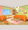 a cozy cartoon interior of vector image
