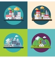 Flat design ecology concept vector image