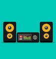 home stereo flat music systems vector image