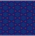 jewish star blue gold pattern vector image