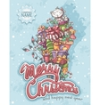 Merry Christmas greeting card with gifts vector image