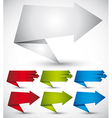 Origami style banners with arrows vector image