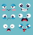 set of emoji emoticon cartoon vector image