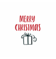 Simple Christmas Card vector image
