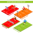 Sport Isometric Concept vector image