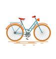 Vintage bike retro bicycle isolated on white vector image