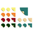 set of stickers vector image vector image