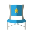 blue chair star director film shadow vector image
