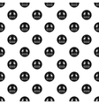 Irritated smiley pattern simple style vector image