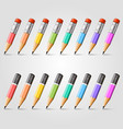pencil background collection vector image