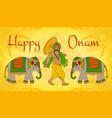 happy oman vector image vector image